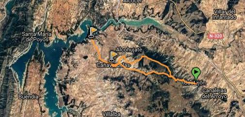 ruta desde casa rural la alcarria